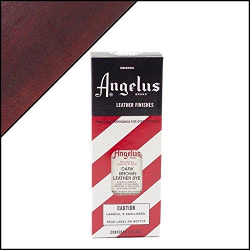Angelus Brand Leather Dye W/applicator - 3 Oz ''Dark Brown'' (Dark Brown Leather Furniture Dye compare prices)