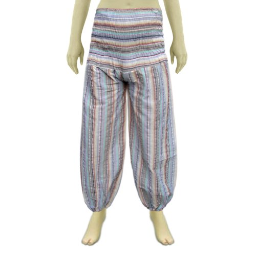 Handmade Bobin Style Cotton Pant In Pajama Shape With Two Pockets (Free Shipping) Afpt0021