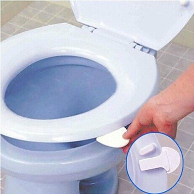 Estiq Toilet Seat Lifter Handle Hygienic Clean Lift Lower Self Adhesive Whit