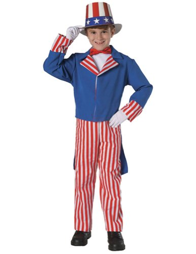 Kids-Costume Uncle Sam Kids Costume Md 8-10 Halloween Costume - Child 8-10