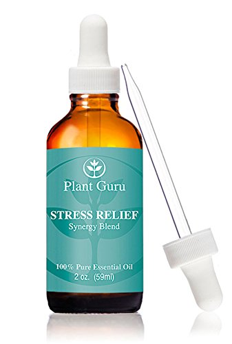Stress Relief Synergy Blend Essential Oil 2oz. (59 Ml.) 100% Pure, Undiluted, Therapeutic Grade. (Blend Of: Bergamot, Patchouli, Sweet Orange, Ylang Ylang, Pink Grapefruit, Gurjum) With Glass Dropper. Great for Aromatherapy!