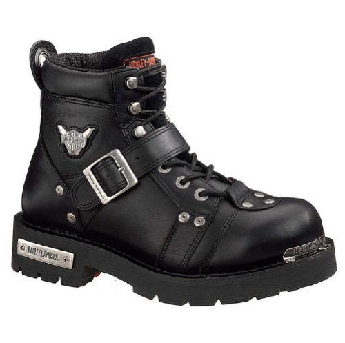 Harley-Davidson Men's Brake Buckle Boot,Black,10 M