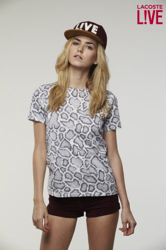 L!VE Short Sleeve Snake Print T-Shirt