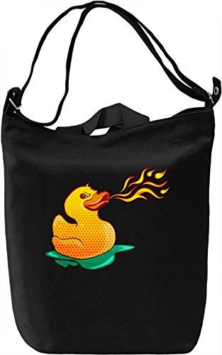 Fire Breathing Rubber Ducky Borsa Giornaliera Canvas Canvas Day Bag  100% Premium Cotton Canvas  DTG Printing 