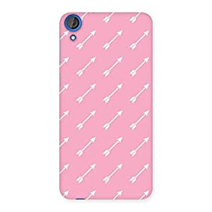 Impressive Pink And Arrow Multicolor Back Case Cover for HTC Desire 820