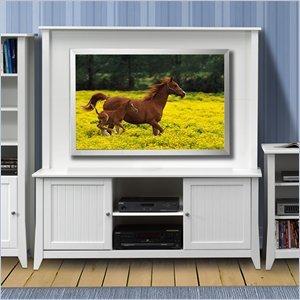 """Cheap Nexera Nexera Vice Versa 58″"""" TV Stand with Hutch in White (202103-KIT)"""