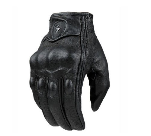 Size L Retro Motorcycle racing gloves Motocross Waterproof Moto full finger glove Windproof leather Touch gloves 0