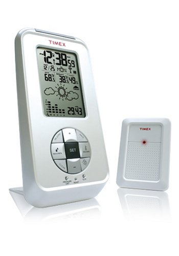 Timex TX6140 Wireless Electronic Thermometer with Hygrometer, Barometer, Bargraph, Weather Icons, Clock, and Calendar