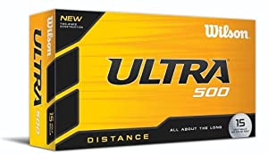Wilson Ultra 500 Distance Golf Ball (15-Pack), White