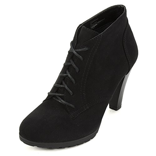 White Mountain 'SERVING' Women's Bootie, Black Suede - 6.5 M (Black And White Booties)