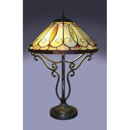 Arroyo Scroll Base Tiffany Style Table Lamp discount price 2015