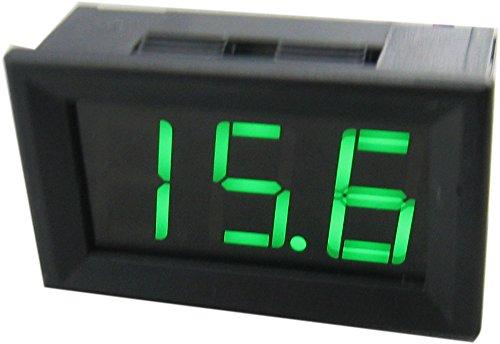 """Yeke Dc 3.5-150V Two-Wire 3 Digits 0.56"""" Led Electric Car Storage Battery Voltage Power Display Digital Voltmeter Volt Panel Meter Voltage Gauge (Grenn)"""