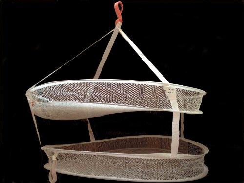 平干しネット 2段 おしゃれ着干しや室内干しに (開放型)