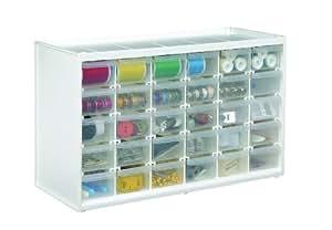Art Bin Store-In-Drawer Cabinet, Translucent