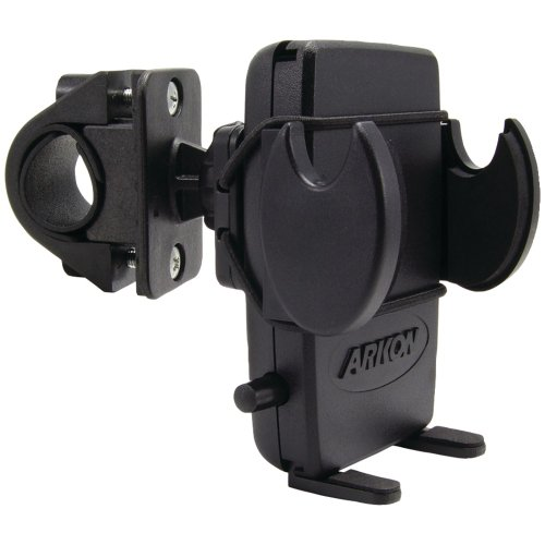 Arkon SM432 Mega Grip Bicycle and Motorcycle Mount for Smartphone – Bulk Packaging – Black
