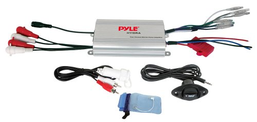 Pyle PLMRMP3A 4 Channel Waterproof MP3- Ipod Marine Power Am