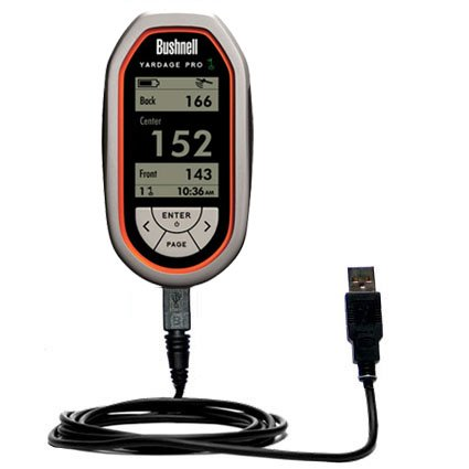 Usb Data Hot Sync Straight Cable For The Bushnell Yardage Pro With Charge Function - Two Functions In One Unique Gomadic Tipexchange Enabled Cable