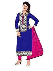 Blue Chanderi Salwar Suit