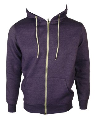 The Home of Fashion Mens Fleece Lined Hooded Jumper-XS -Faded Purple