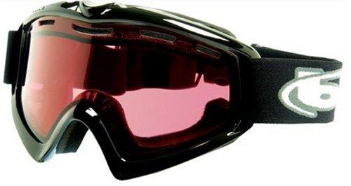 Bolle X-9 OTG Goggle,Shiny Black,Vermillon Lens