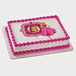 Amazon.com: 1/4 Sheet Cake - Barbie Fabulous in Pink ...
