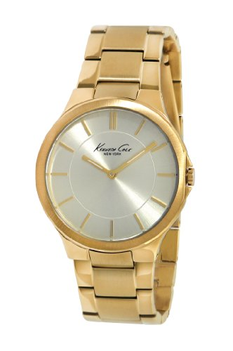 Kenneth Cole New York Women's KC4876 Slim Triple Yellow Gold Round Watch