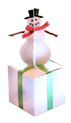 Snowman with Frosted Ice Block Mini Gift Box Empty Favor Packaging 3 Inch Box 7 Inches Tall