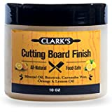 CLARK'S Cutting Board Finish Wax (10oz) | Enriched with Lemon & Orange Oils | Made with Natural Beeswax and Carnauba Wax | Butcher Block Wax