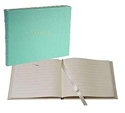 Our bound GUEST BOOK in fine Robins-Egg-Blue Leather for a lasting record by Graphic Image -