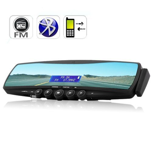 Bluetooth Car Rearview Mirror (MP3 Player, FM Radio, handsfree calling) HF88B2
