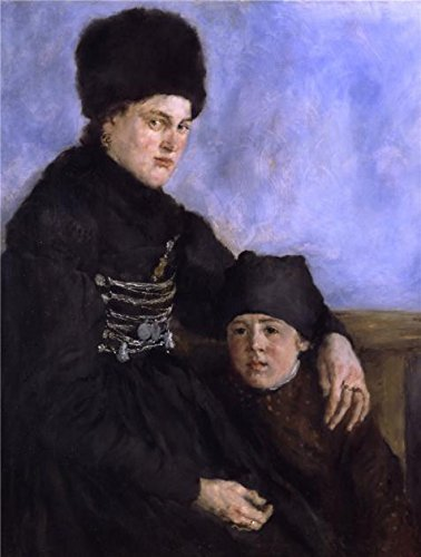 wilhelm-leibl-dachau-woman-and-child1874-oil-painting-8x11-inch-20x27-cm-printed-on-high-quality-pol