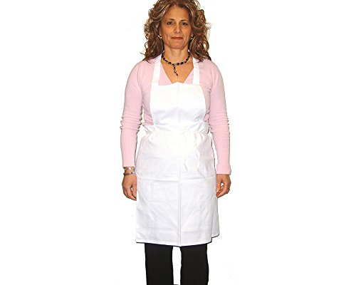 White Chef Apron (with pocket) - Single (1-pack)