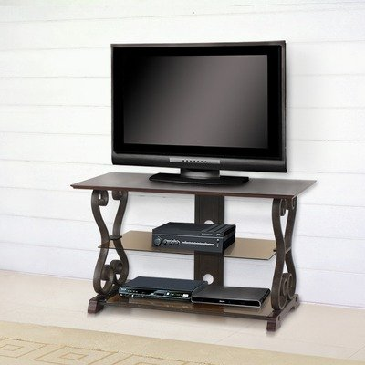 Buy Low Price Clef 43″ TV Stand in Distressed Antique Walnut (DF1175)