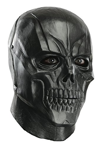 Rubie's Costume Men's Arkham City Adult Deluxe Overhead Latex Black Mask
