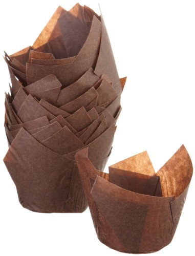 Regency Wraps Tulip Baking Cups, Standard, 24-Count, Brown