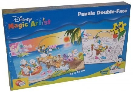 Disney Mickey Mouse Clubhouse: Donald Duck And Kids Colouring 2-In-1 Double-Face Puzzle front-790509