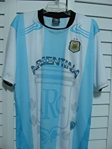 Buy 2014 FOOTBALL SOCCER WORLD CUP ARGENTINA TEAM JERSEY SIZE L XL by DRAKO INC