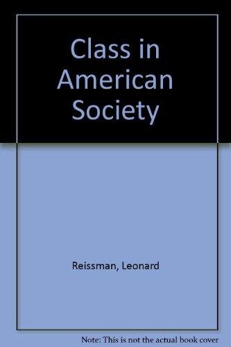 Class in American Society PDF