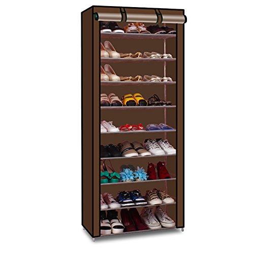 Lifeasy - 9 Tiers Portable Detachable Closet with Fabric Cover Shoe Rack Storage Cloth Shoe Organizer Cabinet (Big Shoe Organizer compare prices)