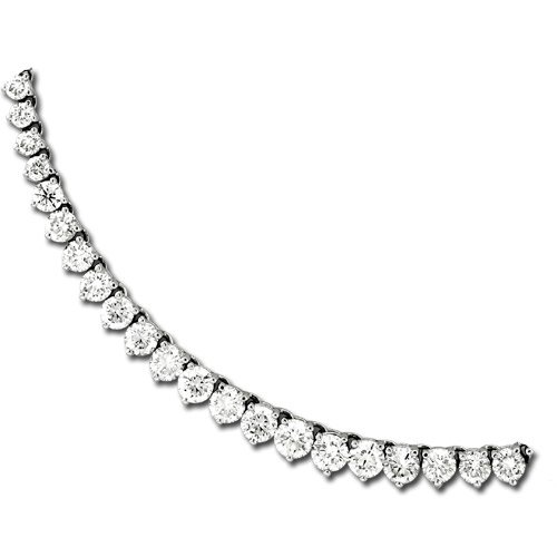 15.00ct tw 18K White Gold 16 Inch Tennis Necklace