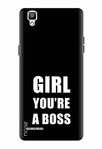 Noise Designer Printed Case / Cover for Oppo F1 / Quotes/Messages / Girl You Re A Boss Design