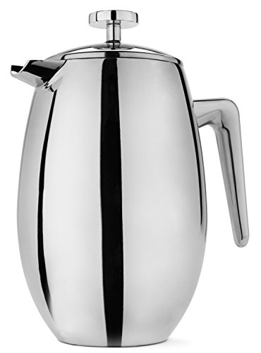 FP Coffee Maker French Press Coffee Maker w/ Insulated Stainless Steel Carafe: Double walled thermal carafe; 8 cup / 34 oz capacity; great for camping and everyday use (French Press Thermal compare prices)