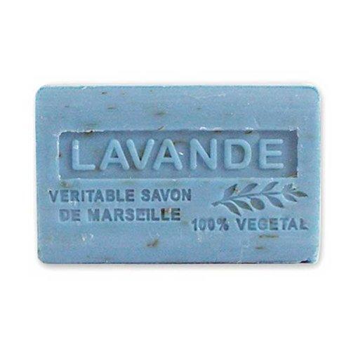 (南仏産マルセイユソープ)SAVON de Marseille ブルーラベンダーの香り(ラベンダーフラワー入り)(SP018)(125g)