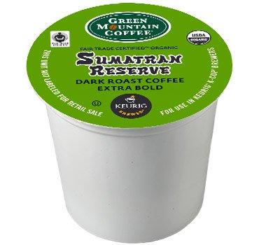 Green Mountain 192 Ct K Cup Fair Trade Organic Sumatran Reserve Coffee Blend front-575375