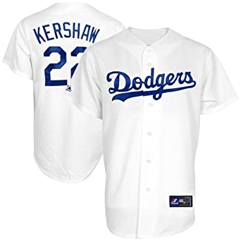 Clayton Kershaw Los Angeles Dodgers White MLB Youth Home Replica Jersey by Outerstuff, Majestic