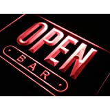 Enseigne Lumineuse j742-r OPEN Bar Beer Drink Cafe Shop Neon Light Sign