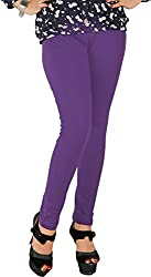 Red Chilli Women's Cotton Slim Fit Leggings (alg_059_rc, Free Size, Berry Blue)