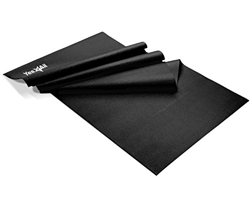 Yes4All Premium PVC Exercise Exclusive Yoga Mat, Black