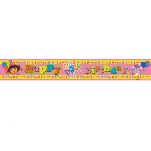 Dora The Explorer Party Banner, 5 yard length