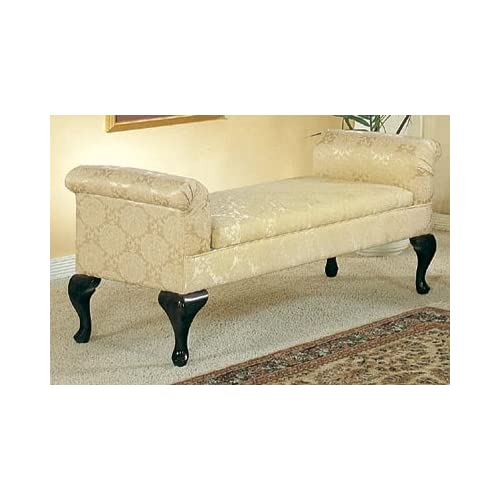 Rolled Arm Victorian Bedroom Bench With Storage Vanity Benches